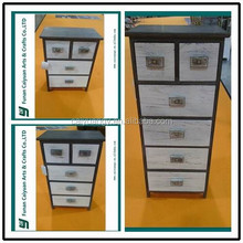 Modern medical tall wooden drawer cabinet with 6 drawers