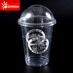 Custom printed disposable colored 11 oz clear plastic cups