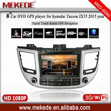 car radio player for 2015 hyundai Tucson IX35 with BT TV IPOD 3G WIFI