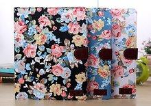 FL366 retro English rose leather case for ipad 4