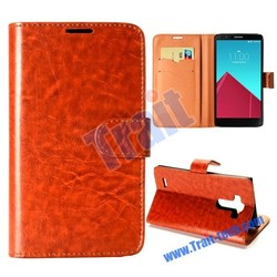 Crazy Horse Pattern Wallet Magnetic Flip Stand PC + Leather Case for LG G4 F500 H810 VS999