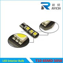 direct sales T10 5050 6SMD LED Fog lamp Color Change Colorful Clearance light 15 modes Flash Fog LED bulb Smart LED Car Light
