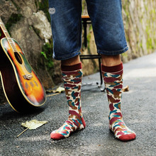 Skateboard camouflage colours leisure men and women stockings tide restoring ancient ways socks