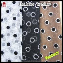 Cheap Polyester Dot Bronzed Mesh For Garment
