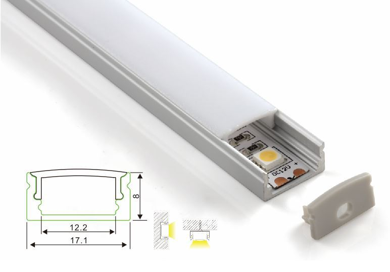 Cx-a002-f Recessed Alu Led Profile With Flange