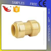 LB-GUTEN TOP Brass Lead Free Straight Coupler 22mm x 3/4 in BSP Male Forged/Welding/Equal/Alloy