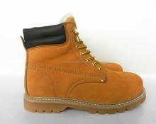 Artificial wool liningn steel toe rubber boots