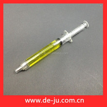 Yellow Cylinder Customized LOGO Printing Hotel Ball Pen
