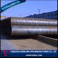3PE coating spiral double random length steel pipe