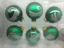 outside hand made christmas glass ball /green christmas ornament
