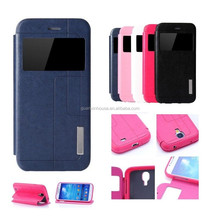 Protective Flip Fashion Luxury New Stand PU Leather View Line Case Cover for galaxy note 4