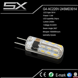 New arrival high quality 5050 g4 led light Ac/DC12-24V for cristal light fixture