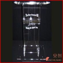 High quality clear plexiglass/acrylic church pulpit