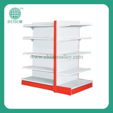 Plain Metal Gondola Supermarket Shelf