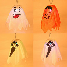 Halloween Decorations colorful light Ghost Hanging use in KTV or wine bar,hanging ghost