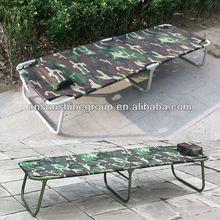 Camouflage silk fabric folding sun bed,military beach beds.
