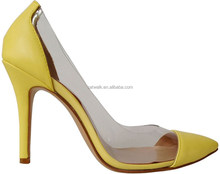 2015 spring fashion women transparent high heel shoes for sexy women evening party shoes