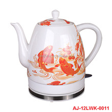 2015 hot sale colour changing electric ceramic kettle