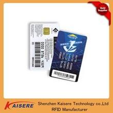 Full offset printing/silk-screen printing/digital printing contact smart card 64K