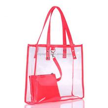 Clear beach pvc tote bag handbag fashion latest ladies handbags
