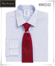 nuevo diseño de agarre de oficina hombres camisa de lino para los hombres