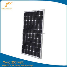 Best price 250W30v mono home solar panel kit made by High Efficiency A Grade Bosch Cells