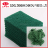 Regenerated polyester staple fiber for scouring pad