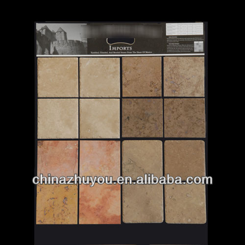 Black colored mdf display sample board for floor tile