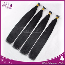 top quality top grade tangle and shedding free pre-bonded remy hair extenion, brazilian i tip hair