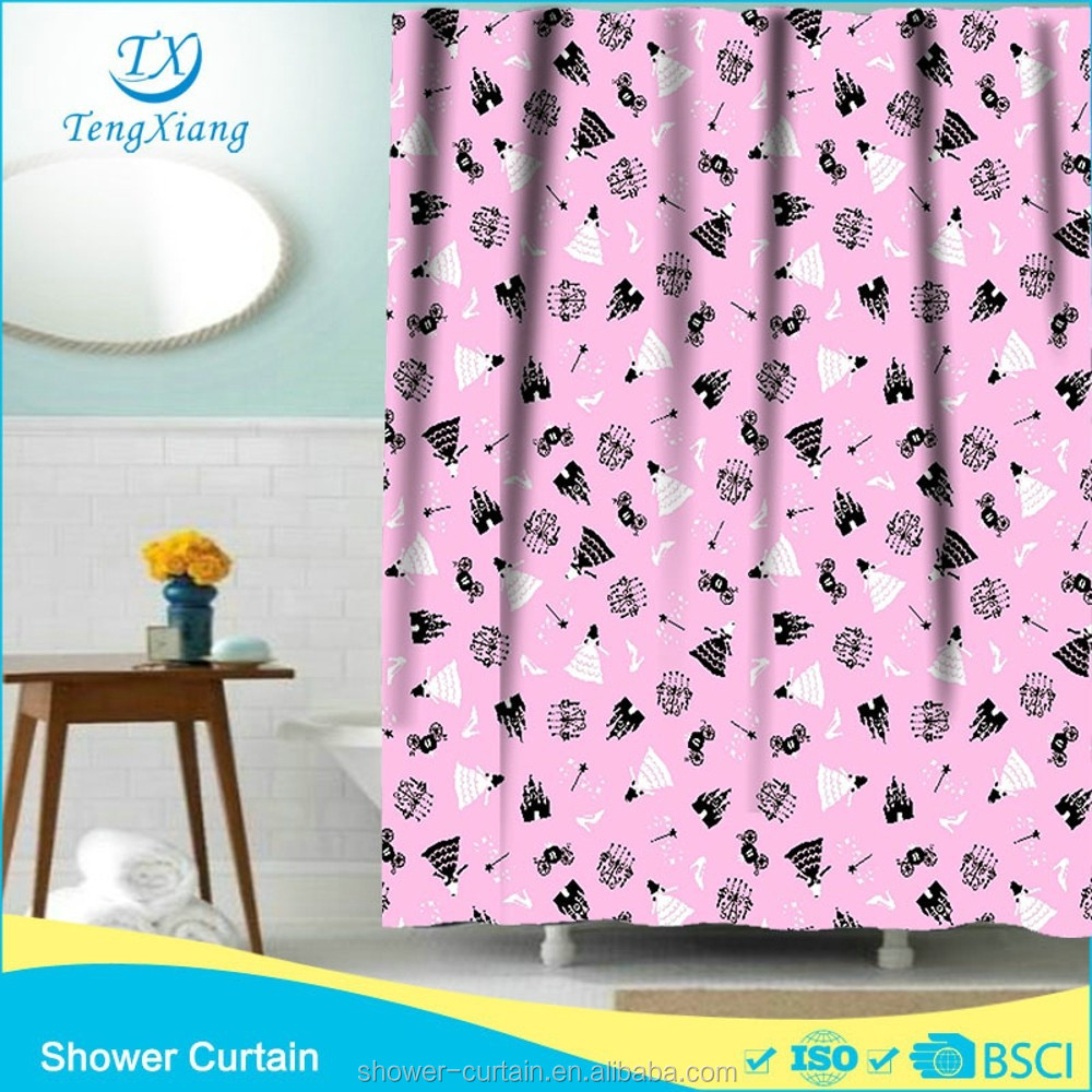 polyester fabric castle girls shower curtains buy shower