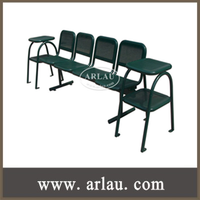 FS77 Indoor Hospital Hygiene Leisure Park Bench with 4 Chairs and 2 Storage Stand