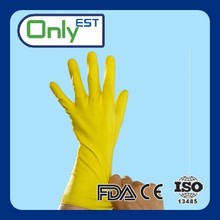 Supplier of washing/cleaning yellow color ladies pvc gloves household