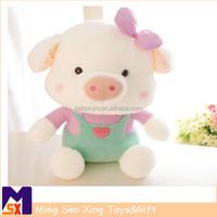 new design Stuffed Toy Custom Plush Toys lifelike plushtoys pink pig for baby