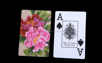 custom promotional high quality wholesale gift Transparent Plastic advertising Playing Cards