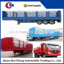 Well-known tri-axle box stake semi trailer of famous brand