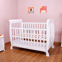 Best selling in Australia baby cot with drawer baby convertible crib wooden baby cribs