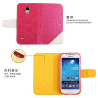 For samsung galaxy s4 mini I9190 leather phone case