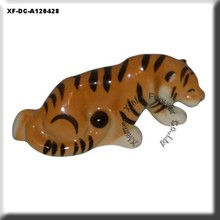 decorative ceramic tiger ornament