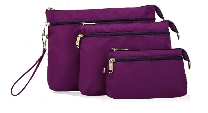 Nouveau design gros custom voyage de toilette ensemble de sacs pour femmes