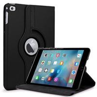 360 Degree Rotating PU Leather Case For iPad Mini 4