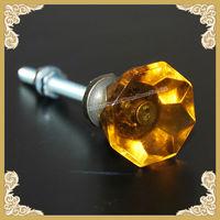 Fancy yellow glaze crystal door knobs hot sale