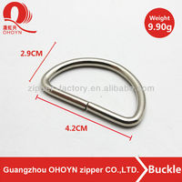 bag accessory silver buckle ring hardware