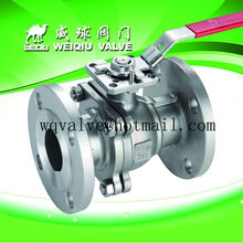 1 inch 2PC flange Stainless Steel Ball Valve with Mounting Pad