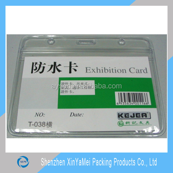 Plastic Promotional Visa Credit Card Wallet