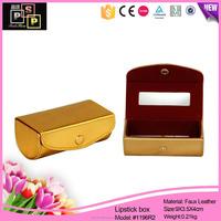 luxury golden leather new custom lipstick case