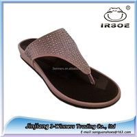 2015 latest new fashion china wholesale flat sandals women chappals manufacturer in china
