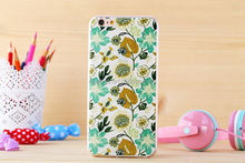 Color painting Tpu Mobile Phone Shell Back Case in Retail Packaging for iPhone 6 plus