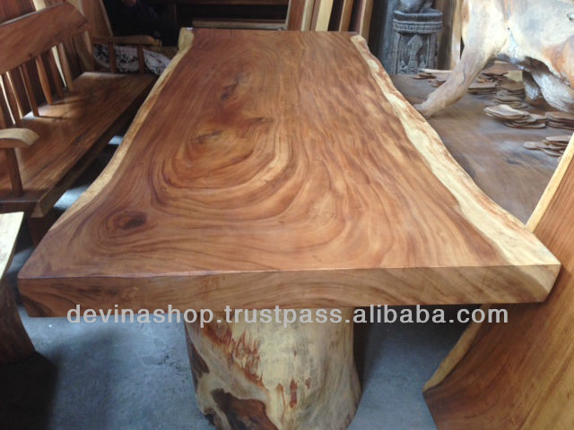 Wood Slab Dining Tables Exotic Wood Dining Tables Acacia Wood Product