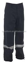 Bleu marine workman pantalon workear travail pantalons en coton bleu pantalons de travail avec réfléchissante
