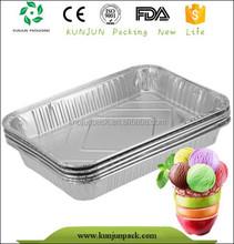Silver Multi-size Disposable Rectangle Food Aluminum Foil Container